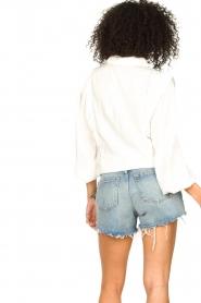 Liu Jo |  High waist denim shorts Juul | blue   | Picture 5