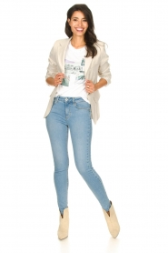 Liu Jo |  High waisted skinny jeans Joy | blue  | Picture 5