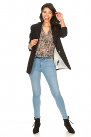 Liu Jo |  High waisted skinny jeans Joy | blue  | Picture 3