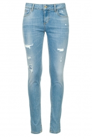 Liu Jo |  Skinny jeans with ribbed details Xia | blue   | Picture 1