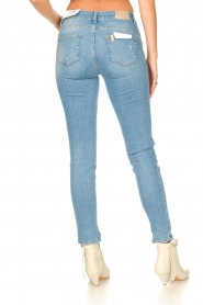 Liu Jo |  Skinny jeans with ribbed details Xia | blue   | Picture 6