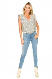Liu Jo |  Skinny jeans with ribbed details Xia | blue   | Picture 3