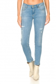 Liu Jo |  Skinny jeans with ribbed details Xia | blue   | Picture 4