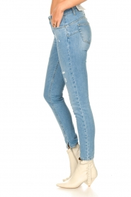 Liu Jo |  Skinny jeans with ribbed details Xia | blue   | Picture 5