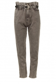 Liu Jo |  Paperbag jeans May | grey  | Picture 1