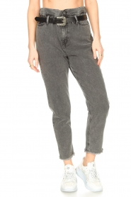 Liu Jo |  Paperbag jeans May | grey  | Picture 5