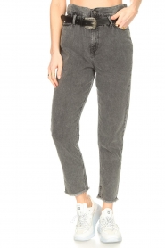Liu Jo |  Paperbag jeans May | grey  | Picture 4