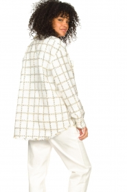 Liu Jo |  Checkered bouclé blouse Mae | natural  | Picture 6