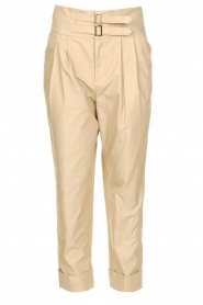 Fracomina |  High waist trousers Cato | beige  | Picture 1