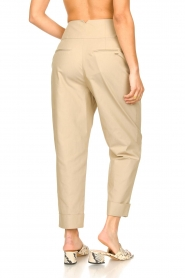 Fracomina |  High waist trousers Cato | beige  | Picture 6