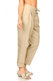 Fracomina |  High waist trousers Cato | beige  | Picture 5