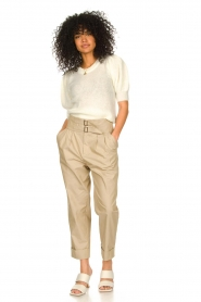 Fracomina |  High waist trousers Cato | beige  | Picture 2