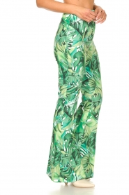 Fracomina :  Flared pants with leaves print Mowi | green - img6