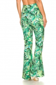 Fracomina :  Flared pants with leaves print Mowi | green - img7