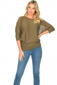 Fracomina |  Sweater with bat sleeves Liv | green  | Picture 2
