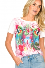 Fracomina | T-shirt met opdruk Frace | wit  | Afbeelding 6