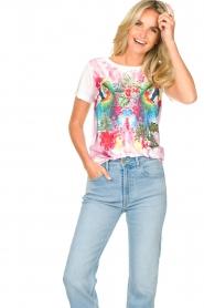 Fracomina | T-shirt met opdruk Frace | wit  | Afbeelding 4