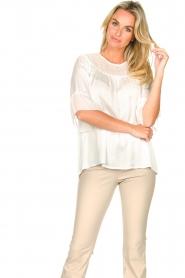 Fracomina |  Sheer blouse Vivian | white  | Picture 2