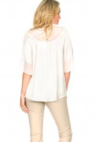 Fracomina |  Sheer blouse Vivian | white  | Picture 7