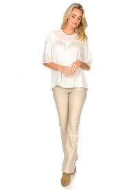 Fracomina |  Sheer blouse Vivian | white  | Picture 3