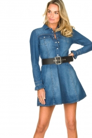 Fracomina |  Denim dress Mila | blue  | Picture 2