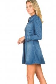 Fracomina |  Denim dress Mila | blue  | Picture 6