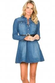 Fracomina |  Denim dress Mila | blue  | Picture 4