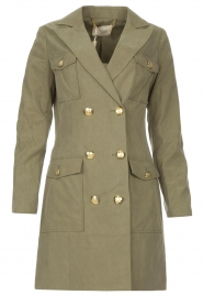 Fracomina |  Jacket with golden details Maya | green  | Picture 1