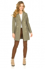 Fracomina |  Jacket with golden details Maya | green  | Picture 3