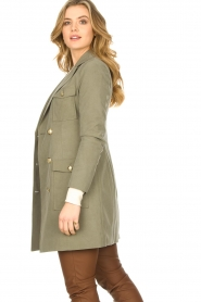 Fracomina |  Jacket with golden details Maya | green  | Picture 5