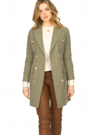 Fracomina |  Jacket with golden details Maya | green  | Picture 2