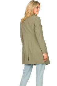 Fracomina |  Double-breasted coat Maya | green  | Picture 8