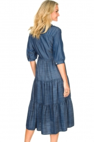 Fracomina |  Denim midi-dress Jane | blue  | Picture 6
