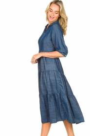 Fracomina |  Denim midi-dress Jane | blue  | Picture 5