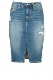 Fracomina |  Denim pencil skirt Mia | blue  | Picture 1