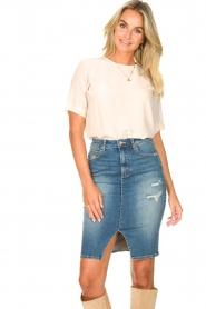 Fracomina |  Denim pencil skirt Mia | blue  | Picture 2