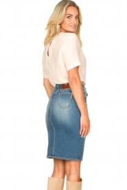 Fracomina |  Denim pencil skirt Mia | blue  | Picture 8