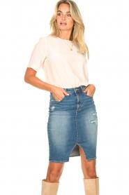 Fracomina |  Denim pencil skirt Mia | blue  | Picture 6