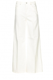 Fracomina | High waist flare Vic | wit   | Afbeelding 1