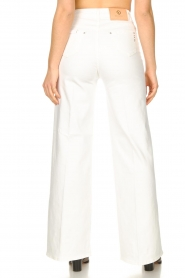 Fracomina |  High waist flare Vic | white  | Picture 6