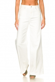 Fracomina | High waist flare Vic | wit   | Afbeelding 5