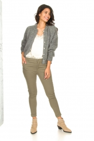 Fracomina |  Cotton chino pants Amy | green  | Picture 6