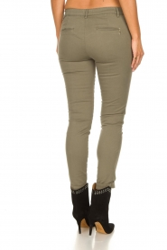 Fracomina |  Cotton chino pants Amy | green  | Picture 5