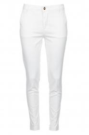 Fracomina |  Cotton chino pants Amy | white  | Picture 1