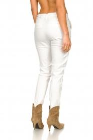 Fracomina |  Cotton chino pants Amy | white  | Picture 6