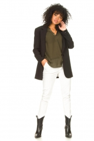 Fracomina |  Cotton chino pants Amy | white  | Picture 3