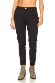 Fracomina |  Cotton chino pants Amy | black  | Picture 4