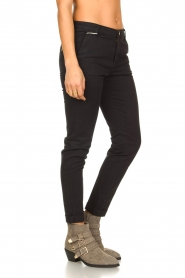 Fracomina |  Cotton chino pants Amy | black  | Picture 5