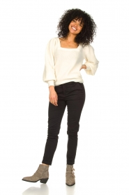 Fracomina |  Cotton chino pants Amy | black  | Picture 2