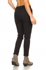 Fracomina |  Cotton chino pants Amy | black  | Picture 6